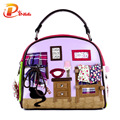 Fashion Women Shoulder Bag Italy Braccialini Handbag Style Retro Handmade Stylish Woman Messenger Bags