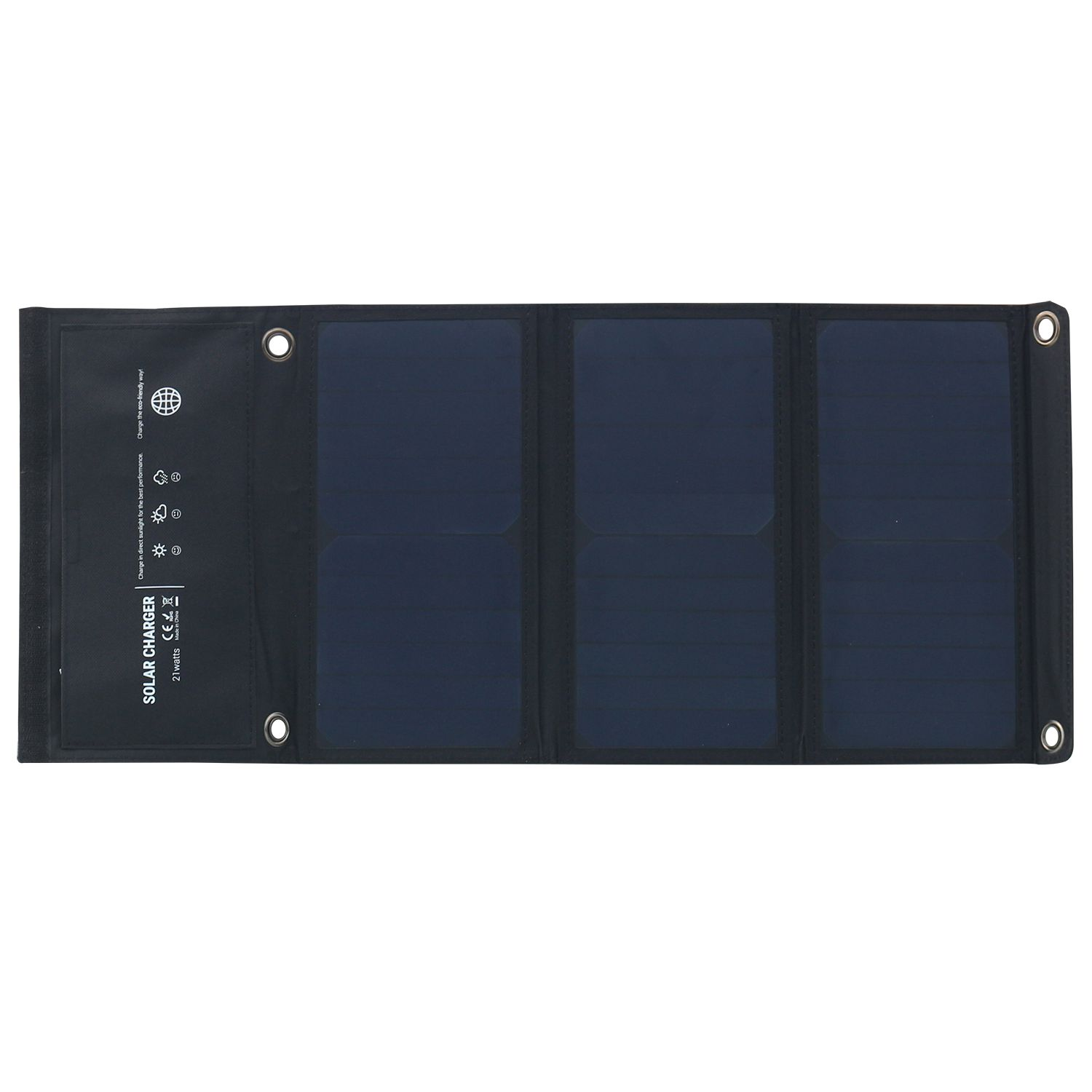 5V 21W Waterproof Solar Powered Charger Foldable Outdoor Solar Charger Dual USB Ports for iPhone 8/X/7/6s, iPad Pro/Air 2/mini5V 21W Waterproof Solar Powered Charger Foldable Outdoor Solar Charger Dual USB Ports for iPhone 8/X/7/6s, iPad Pro/Air 2/mini
