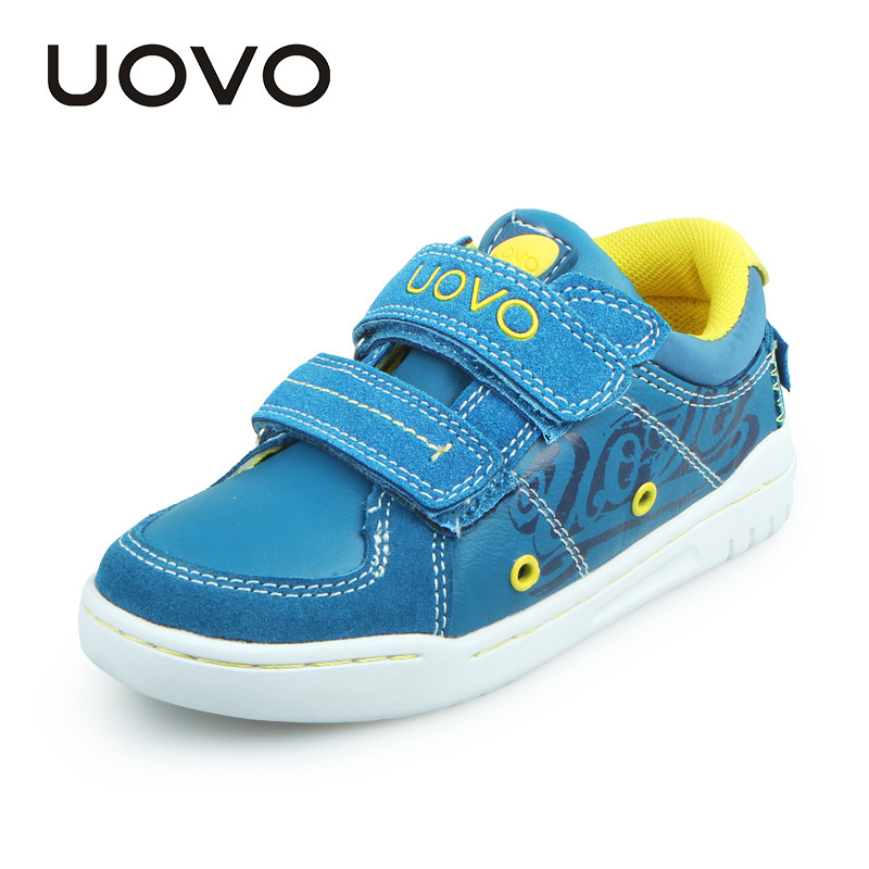 UOVO Children Shoes Spring Travelling Fashion Casual Boys Shoes Kids Sneakers Comfortable School Shoes Leather Blue/Khaki