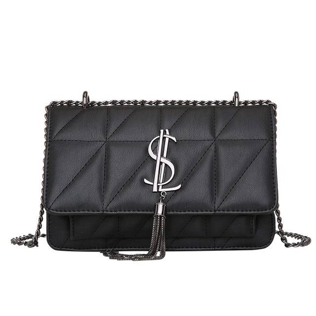 Hot Red Luxury Women Bag Letter Girls Chain Shoulder Crossbody Bags Soft Fashion Diamond Female Large Flap Lady Mujeres Paquetes
