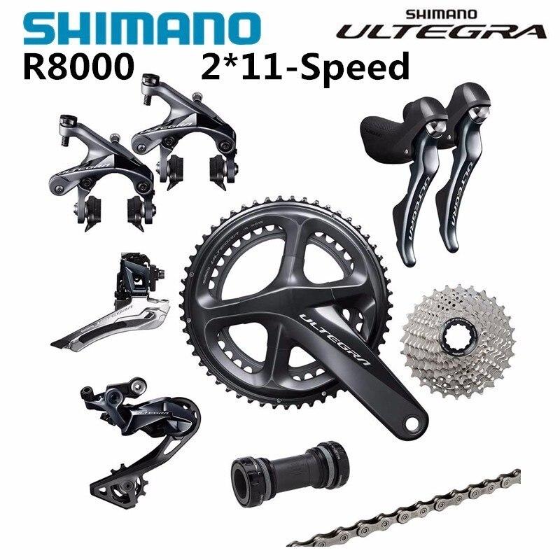 Shimano Ultegra R8000 50/34 T 53/59 T 165/170/172.5/175mm 2*11 22 vitesses vélo de route groupset pièces de vélo