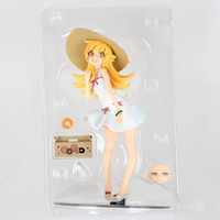 Free Shipping Anime Monogatari Bakemonogatari Oshino Shinobu Painted PVC Action Figure Collection Model Toy 17cm Retail