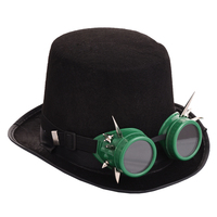 Vintage Retro Women Men Steampunk Hat Rivet Goggles Top Hats Gothic Cosplay Hats