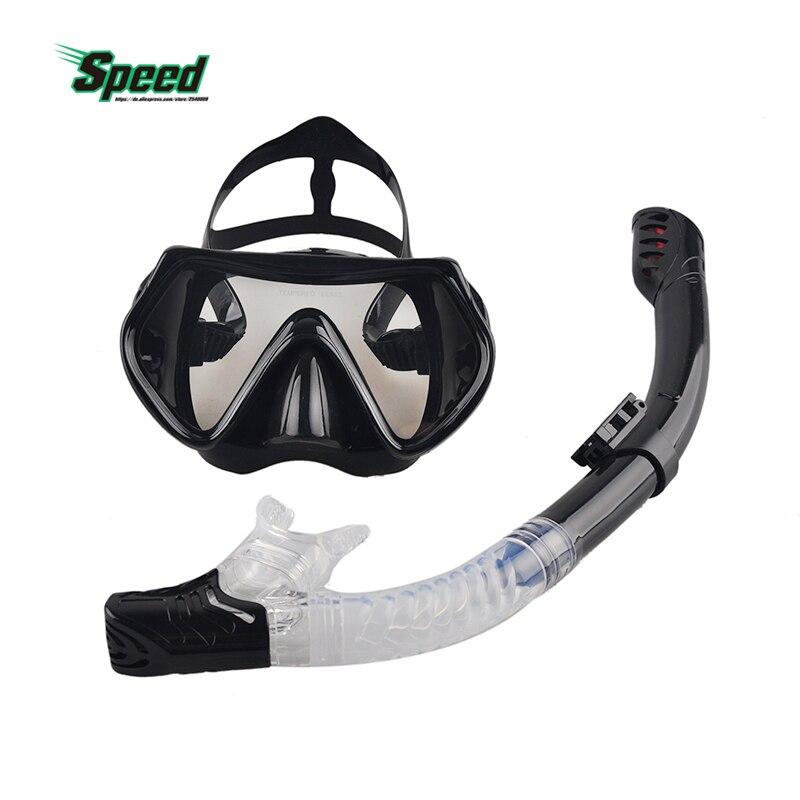 Neue Berufs Tauchen Maske Schnorchel Anti-Fog Goggles Gläser Set Silikon Schwimmen Angeln Pool Ausrüstung 6 Farbe Erwachsene