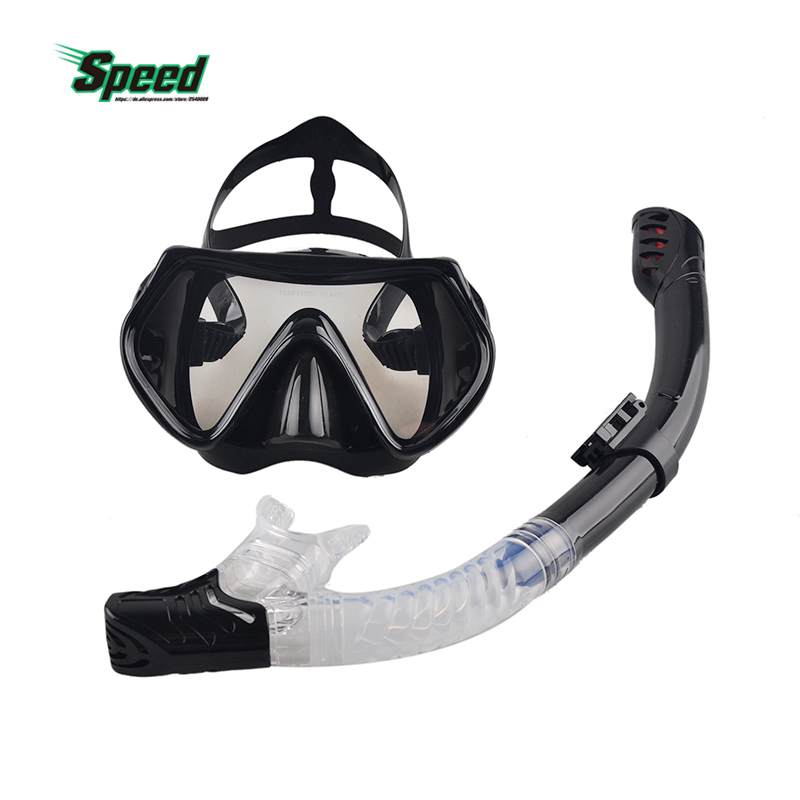 New Professional Scuba Diving Mask Snorkel Anti-Fog Goggles Glasses Set Silicone Swimming Fishing Pool Equipment 6 Color Adult