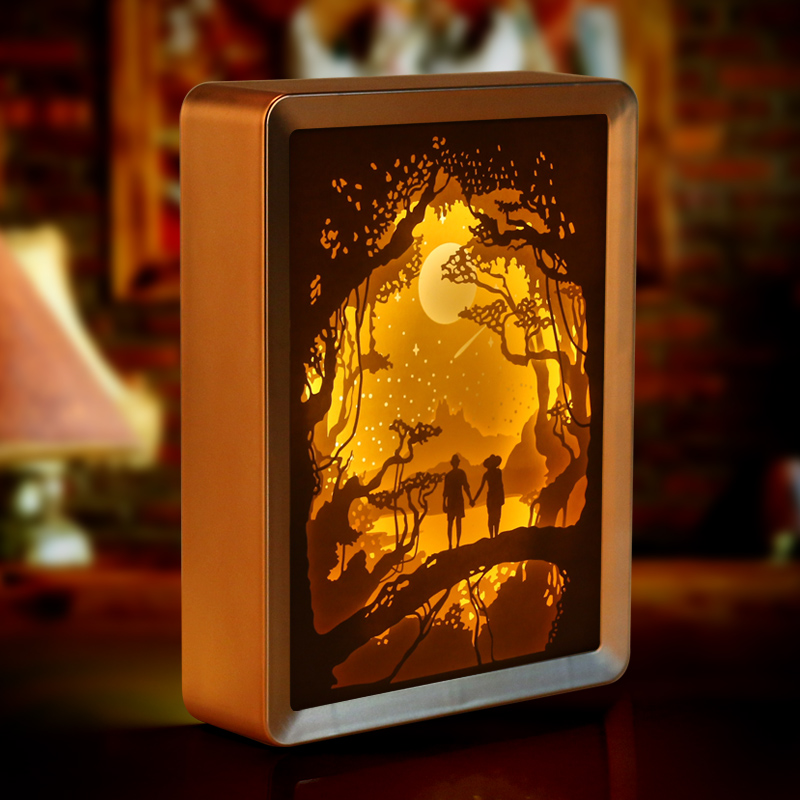New Product Paper Cut Led Night Light Painting 3d Shadow