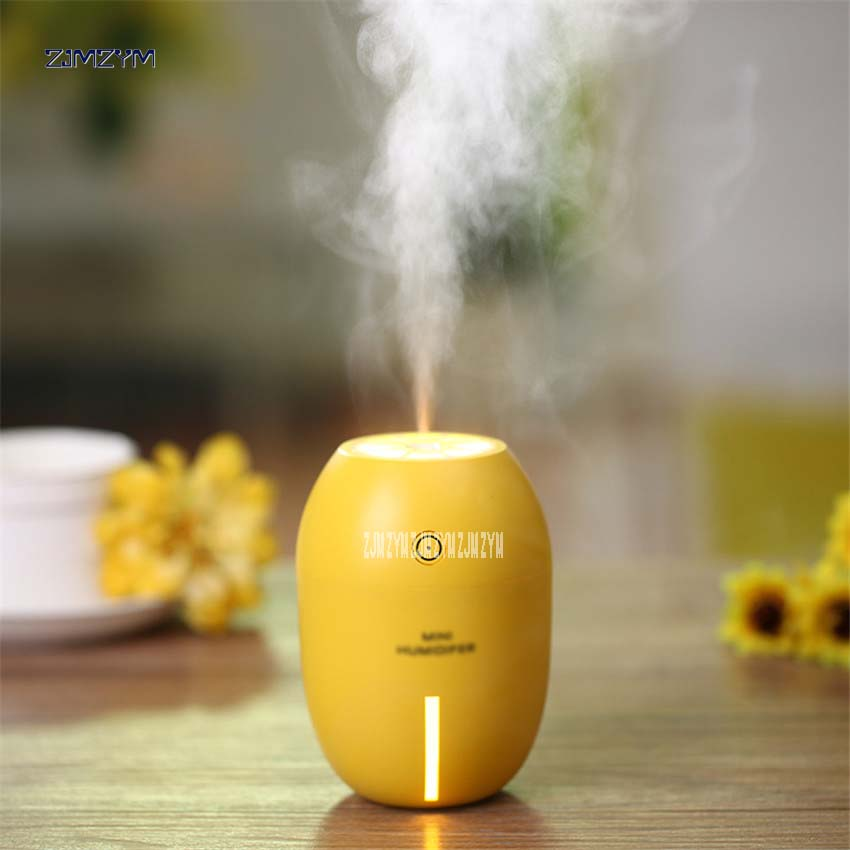 Mini lemon humidifier DC 5V with led light 100 pcs /lot sky blue/yellow /green/red colors diffuser mist 180ml Water capacity blue sky чаша северный олень