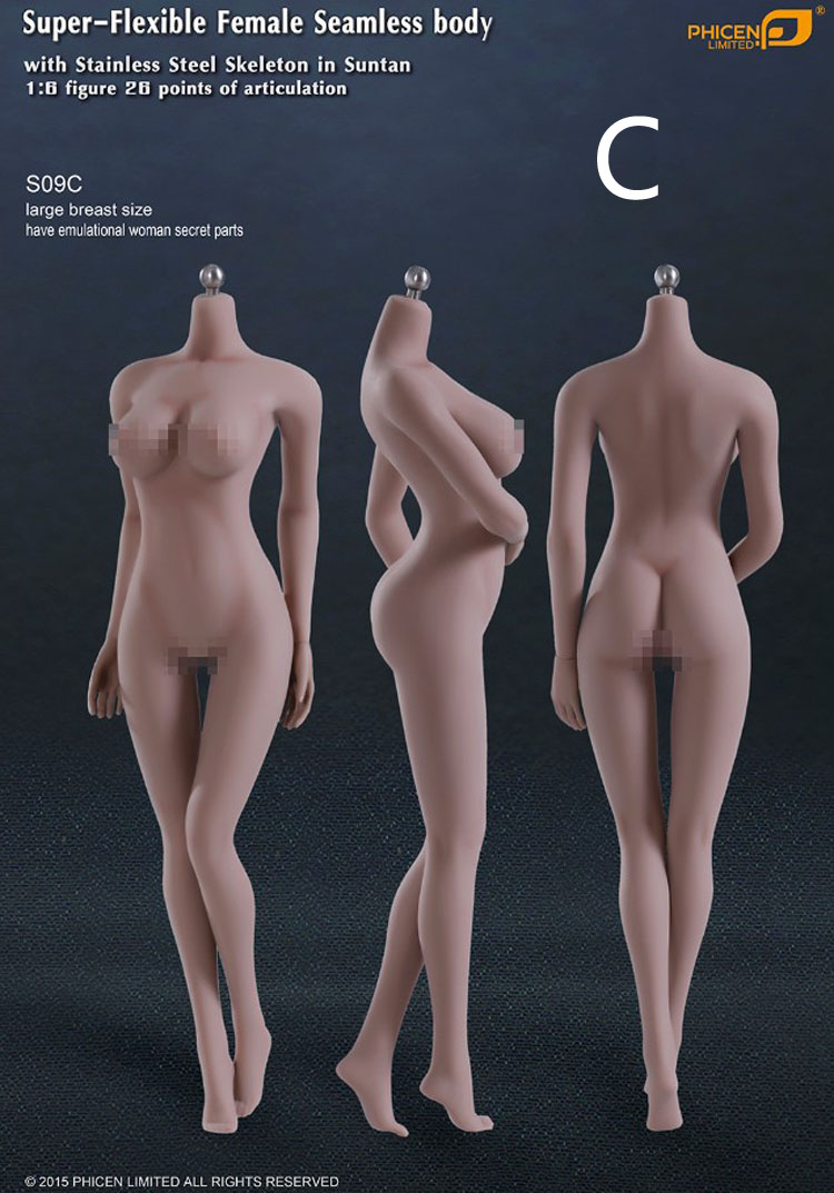 US Phicen 1:6 TBLeague Female Seamless bronzage moyen Breast Body figure S23B