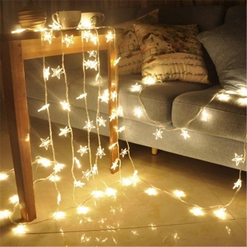 Luminaria Led Star String Light 10m Starry Room Outdoor