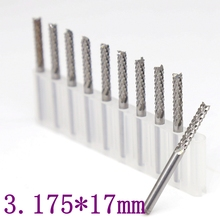 3.175mm*17  PCB Milling Cutter 10PCS Metal Woodworking CNC Router Power Tools Tungsten Carbide Drilling Machine Accessories