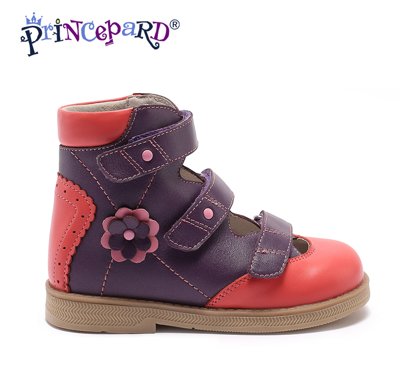 Princepard Genuine Leather Orthopedic Children Sandals Shoes kids Baby girl boy Soft Sole Shoes orthopedic shoes for kids