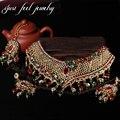 Gargantilla de lujo Cristal Plateado del Oro Pendientes de Gota de La Joyería Headwear 33 CM Mix Rhinestone Mujeres Indias Declaración bijouterie