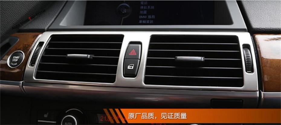 Yimaautotrims climatisation centrale couverture de ventilation de sortie d'air garniture intérieure adaptée pour BMW X5 E70 2009-2013X6 E71 2010-2014
