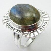 Labradorite Ring Size 7 Silver Traditional Fashion Jewelry Unique Designed