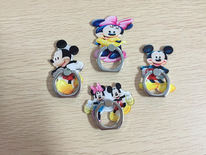 Mickey and Minnie mouse 360 Degree Finger Ring Holder Mobile phone Stand Universal Ring Hook Bracket for iphone.
