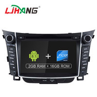 LJHANG 2 Din 7 inch Android 8.1 Car DVD Player For HYUNDAI i30 Elantra 2011 2016 Multimedia GPS Navigation Audio Stereo WIFI RDS