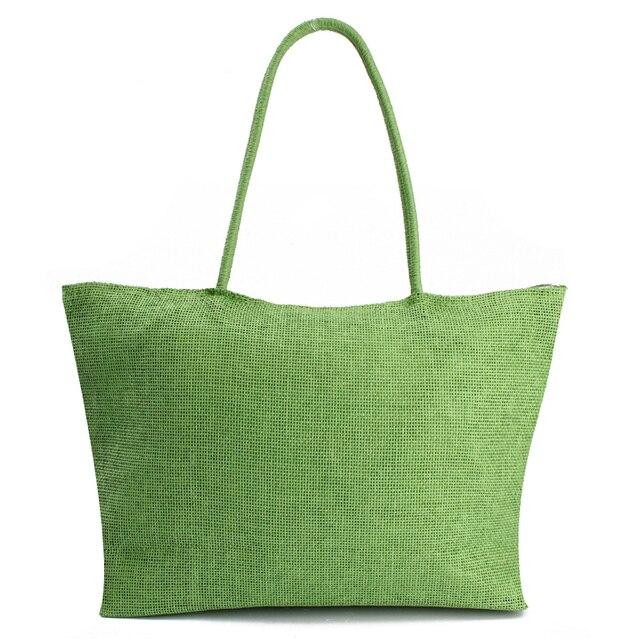 2017 Hot New Design Straw Popular Summer Style Weave Woven Shoulder Tote Shopping Beach Bag Purse Handbag Gift FreeShipping N770