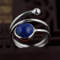 India Napel Natural Lapis 925 Pure Silver Rings for Women Girl Handmade More Laps Gift Ring Thai Silver Jewelry Accessories