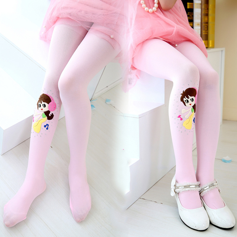 Spring Girls Pantyhose Ballet Styles Kids Children Girl Tights Cute Dance Girl Velvet Tights Stockings For 3-16 Years Girls