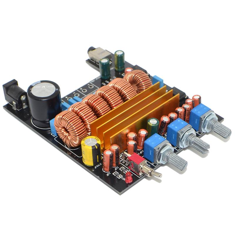 New TPA3116 2 1 Digital Amplifier Board Class D 3 Channel DC18V 24V 2 50W 100W Free Shipping 12003203 in Amplifier from Consumer Electronics