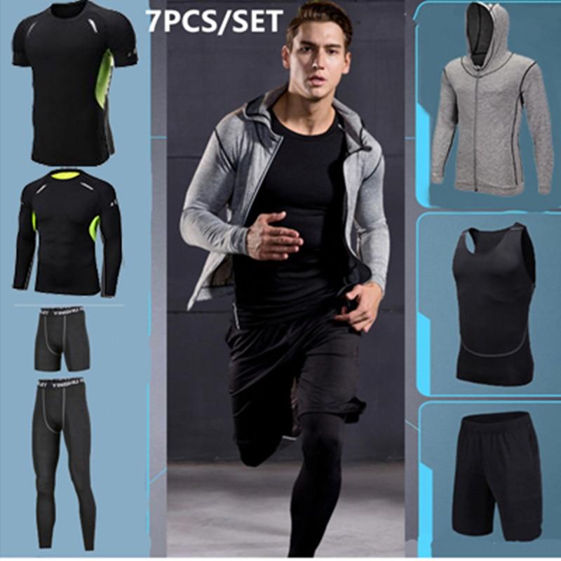 Gym Tights Compression Men Sport Suit Fitness Sportswear Quick Dry Basketball Running Jogging Training Underwear Boy Running Set