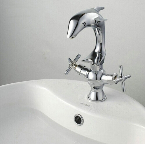 fashion high quality chrome brass dolphin design bathroom ...