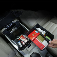 Center Armrest Double Layer Storage Box For Ford Kuga 2013 14 15 16 AAB211
