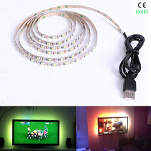 KINLAMS 5V 50CM 1M 2M 3M 4M 5M USB Cable Power LED strip light lamp SMD2835 Christmas Desk Lamp Tape For TV Background Lighting