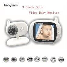 Babykam radio babysitter 3.5 inch LCD Temperature monitor Lullabies IR Night vision Intercom baba electronics video babysitting