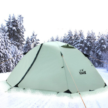 Hewolf Outdoor Professional Double-layer Tent Wild Snow Mountain Camping Equipment Multi-Person Ultra-light Snow Skirt Tent 2