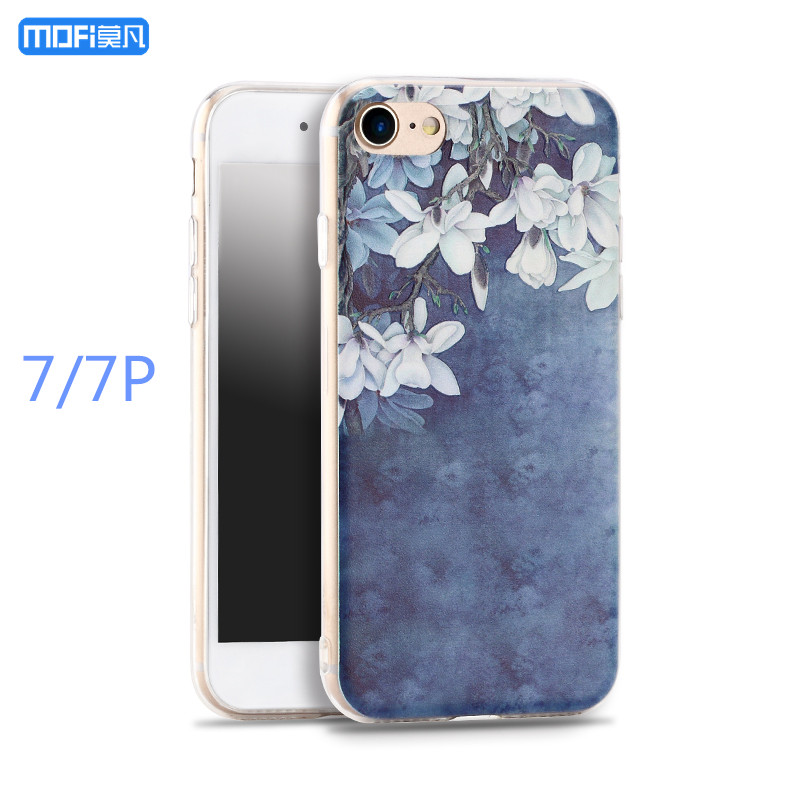 For iphone 7 case for iphone 7 plus case MOFi original TPU soft back case transparent silicone ultra cartoon flower 3D 4.7 5.5