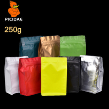цены 250g candy food coffee storage Cookie half pound Bag packing  Eight side  standing Aluminum foil zipper Wide Bottom Self-sealing