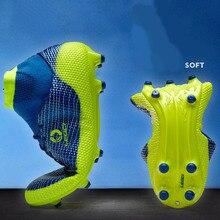 LEOCI футбол сапоги и ботинки для девочек для мужчин высокие ботильоны TF/SG подошва открытый футбол обувь мальчиков бутсы взрослы