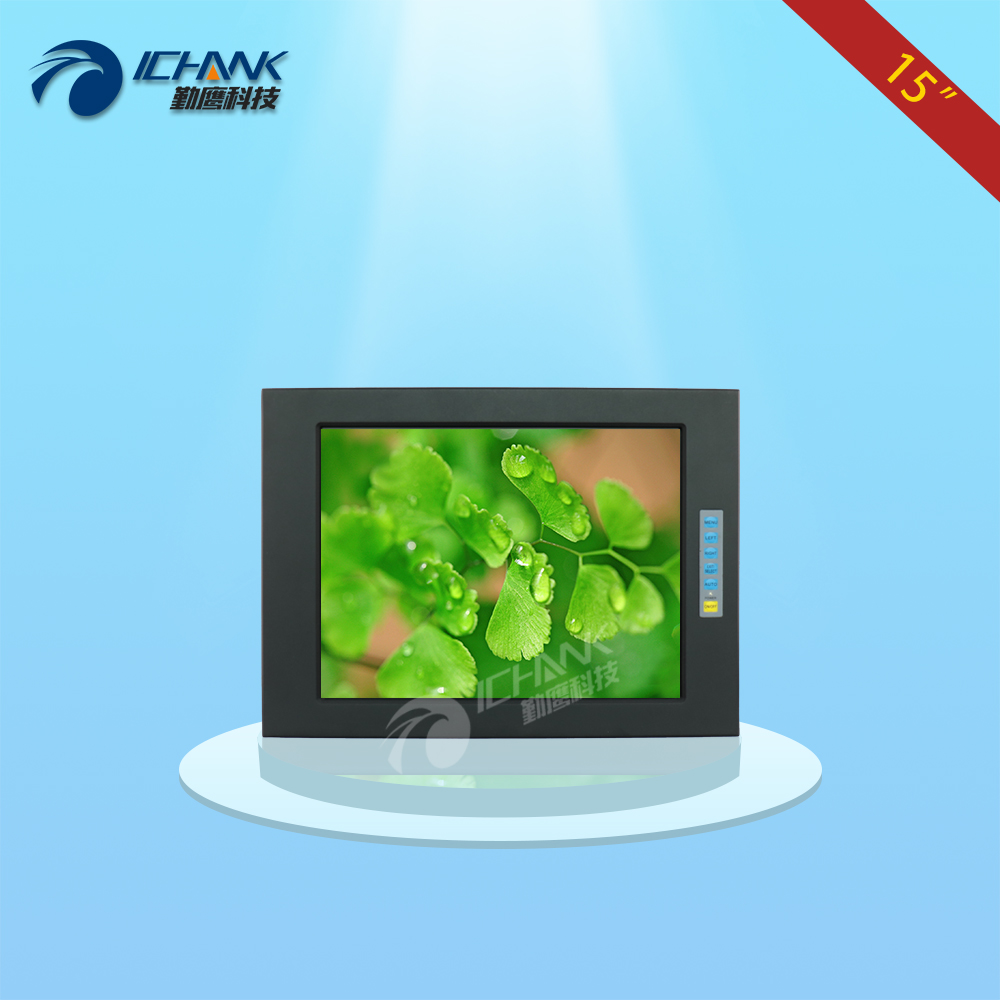 Q150TN-705/15 inch 1024x768 BNC VGA metal case Aviation power Embedded Open frame industrial computer monitor LCD screen display