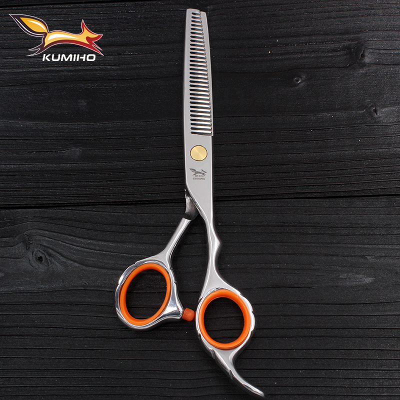 KUMIHO hair thinning scissors 6 inch 9cr13 stainless steel high quality hair scissors for salon use hair shear hairdressing