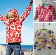 Бесплатная доставка осенью детская одежда для мини боден девочка цветок печать верхняя одежда куртка