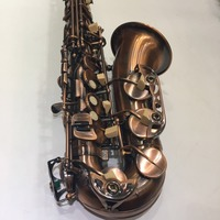 High Quality Alto Eb Tune E Flat Saxophone Antique Copper Concert Instruments Sax Customizable Logo With