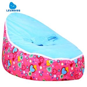 Cadeira do Saco de Feijão Levmoon Médio Subiu Amante Crianças Cama Para Dormir Portátil Criança Dobrável Assento Do Sofá Zac Sem O Enchimento|Sofás infantis|Móveis -