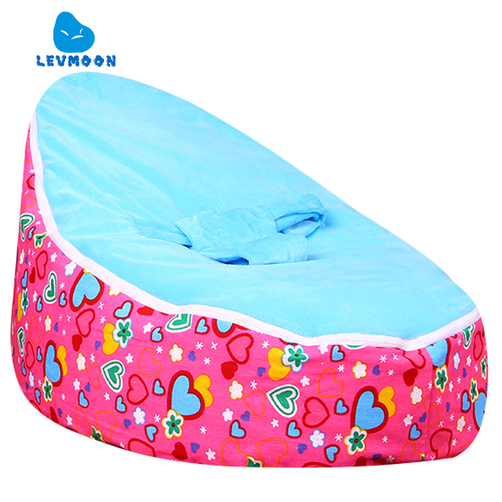 Levmoon Medium Rose Lover Bean Bag Chair Kids Bed For Sleeping Portable Folding  Child Seat Sofa Zac Without The Filler