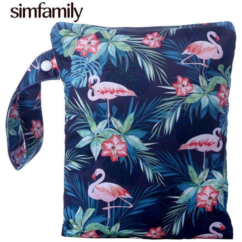 [simfamily]1PC Diaper Wet Bag PUL Diaper Bag 7.5