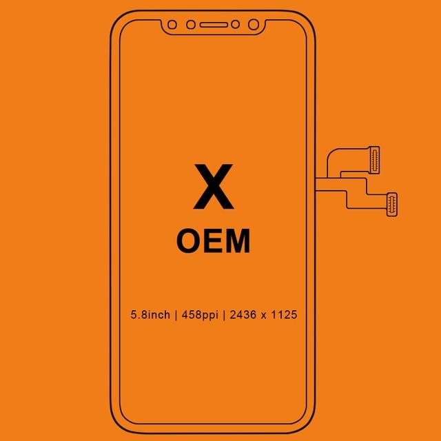 Для iPhone X ЖК-дисплей без битых пикселей для Tianma AMOLED OEM AAA ЖК-дисплей Замена сенсорный экран с дигитайзером сборка черный