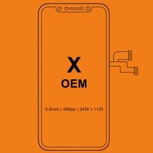 3pcs Per il iPhone X Display LCD Per Tianma OLED OEM LCD di Ricambio Touch Screen Con Digitalizzatore Assembly Nero