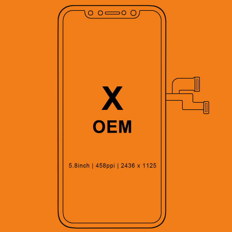 Pour l'iphone X affichage à cristaux liquides aucun Pixel mort pour Tianma AMOLED OEM AAA écran tactile de remplacement d'affichage à cristaux liquides avec l'assemblage de numériseur noir