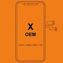 Tianma oled에 대 한 아이폰 X LCD 디스플레이에 대 한 3pcs 디지타이저 어셈블리와 OEM LCD 교체 터치 스크린 블랙