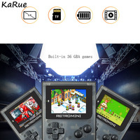 KaRue Retro Video Game Console 32 Bit Portable Mini Handheld Game Players Built-in 36 Classic Games For Kids games con