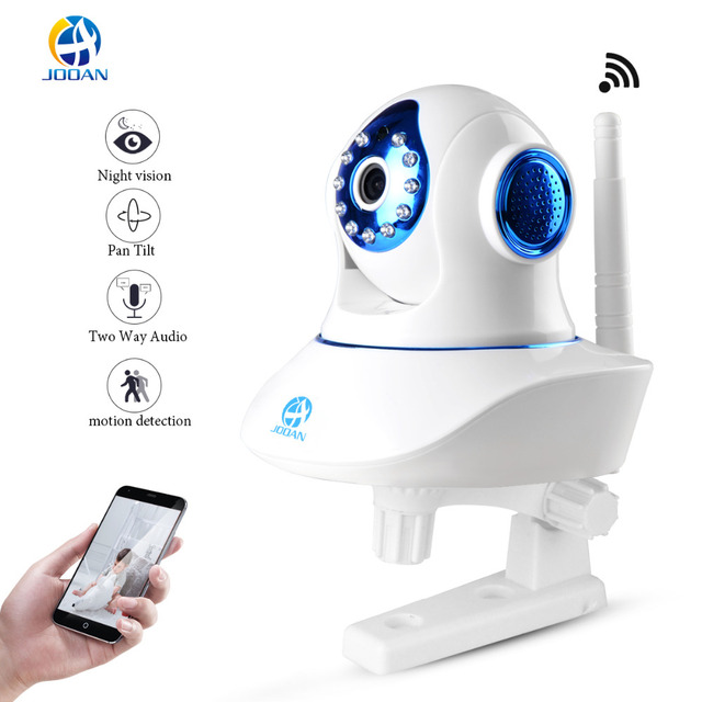JOOAN Wireless IP Camera 720P HD WiFi Networ Security Night Vision Audio Video Surveillance CCTV Camera Smart Home  Baby Monitor