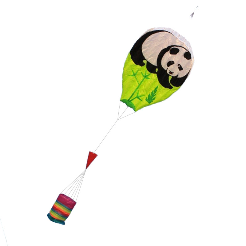 Free Shipping Outdoor Fun Sports 2.5m Power Panda Software Kite /Cartoon Kites With String And Handle Good Flying
