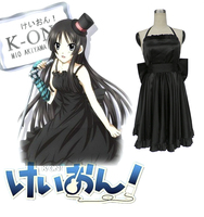 Ücretsiz Kargo K-ON! mio akiyama siyah dress anime cosplay kostüm