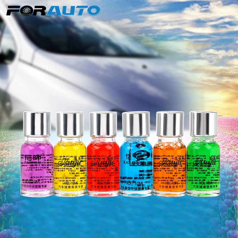 FORAUTO 10ml Air Freshener Aromatherapy Oil Car Outlet Perfume Replenishment Automobiles Vents Fragrance Natural Plant Essential