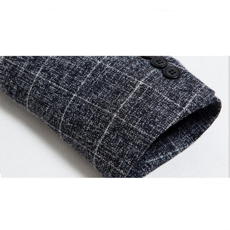 Mens Leisure Suit Jacket 2017 New Men Wool Suit Blazer Single-breasted Business Brand Clothing Men Blazer Plus Size XXXL
